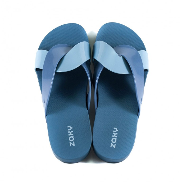 Шлепанцы женские Zaxy 17543-90103 сине-голубые