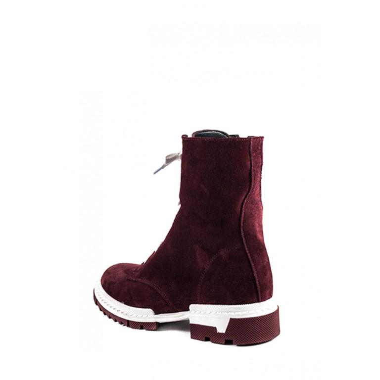 Ботинки зимние женские SND SDAZ А11 бордовые