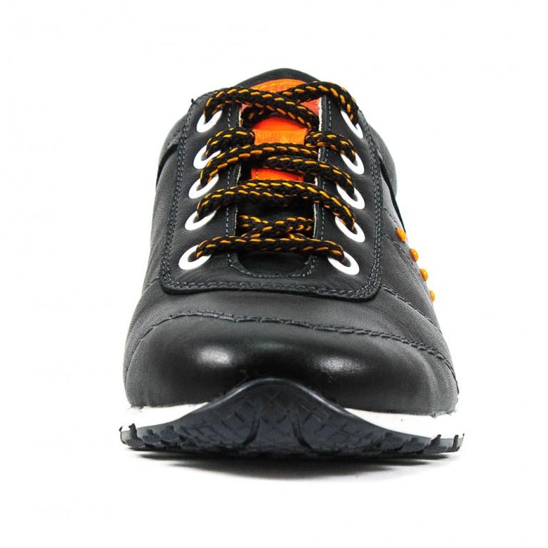 Кроссовки подростковые MIDA 31112-1 черная кожа
