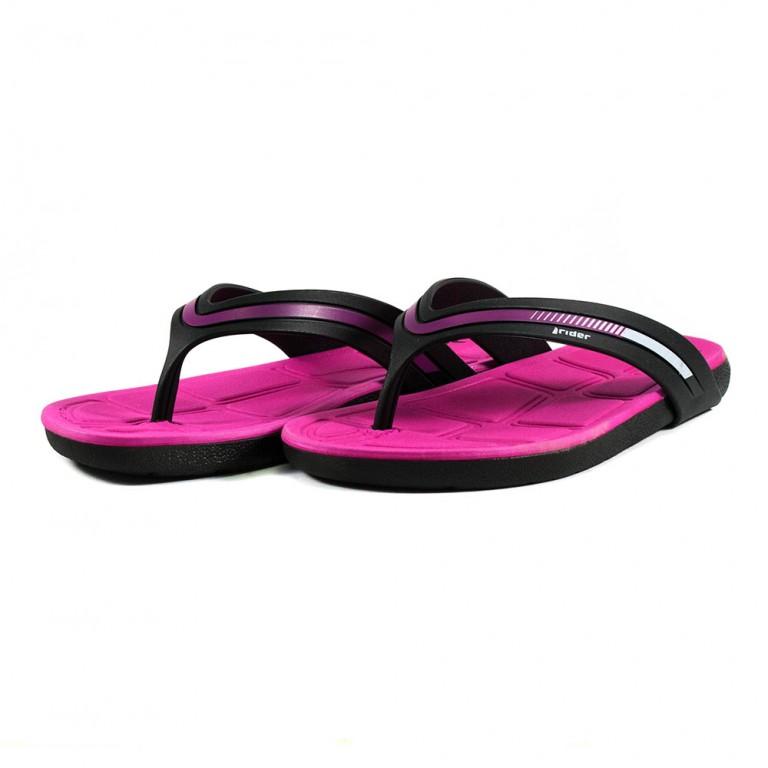 Вьетнамки женские Rider 82502-20753 черно-розовые