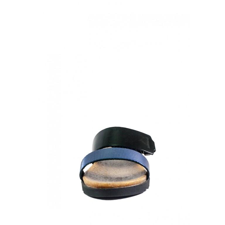 Шлепанцы женские MIDA 23713-540 синяя кожа
