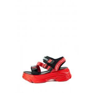 Сандалии женские LorisBottega WG-2089 красно-чёрные
