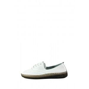 Мокасины женские Allshoes 19111-1K белые