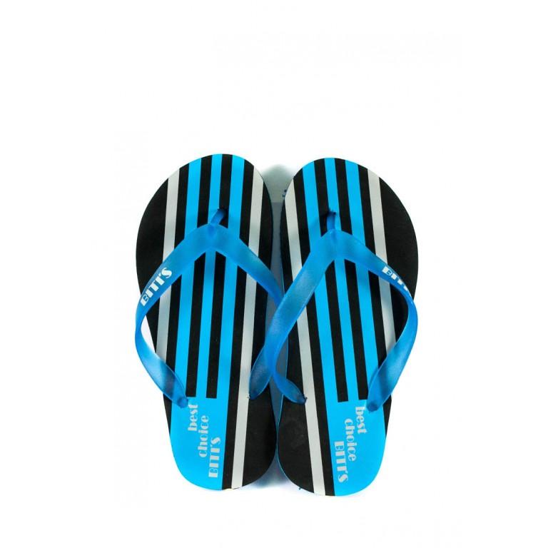 Шлепанцы подростковые 6161-Е черно-голубой