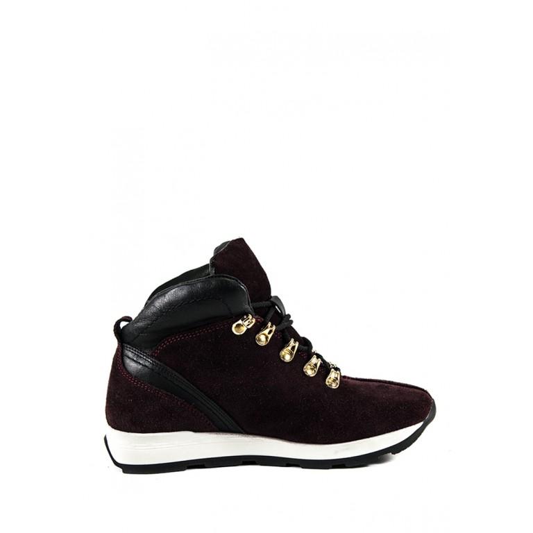 Ботинки зимние женские MIDA 24750-658Ш бордовые