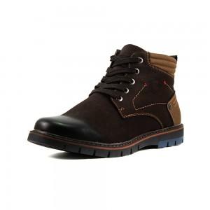 Ботинки зимние мужские Man`s P83096M-X38B коричневые