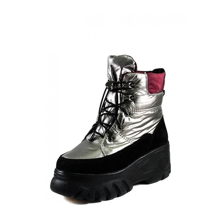 Ботинки зимние женские Lonza B102-N700 серые