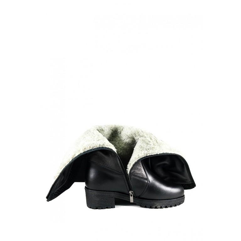 Сапоги зимние женские SND 4064-2-35Б черная кожа