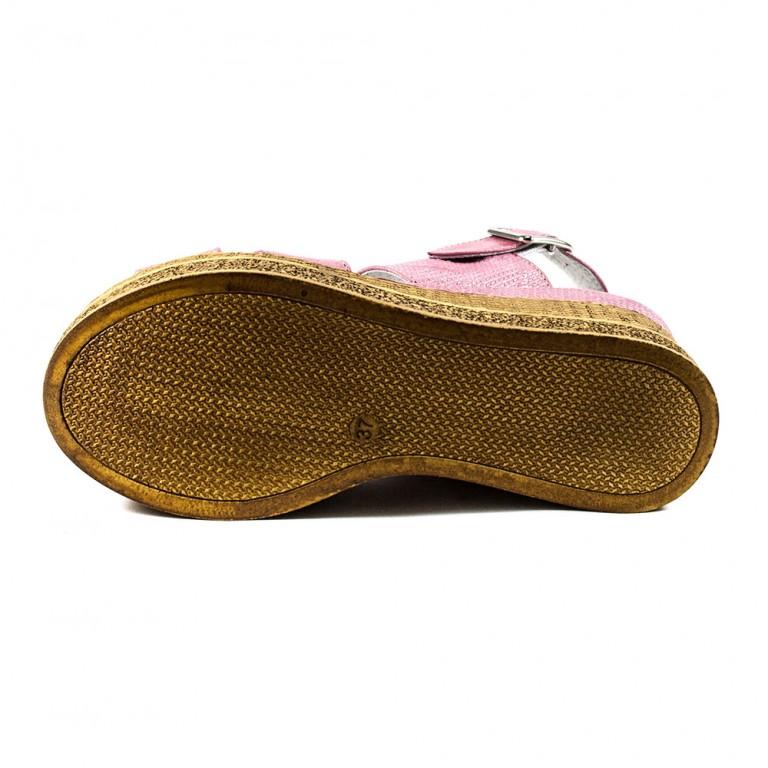 Босоножки женские Camelfo 886 розово-коричневый