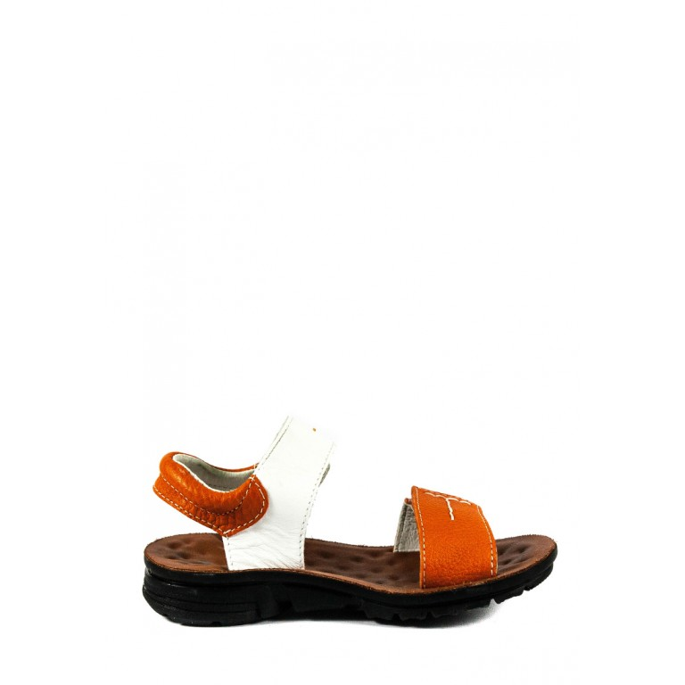 Сандали подростковые TiBet 8-02-17 бело-оранжевые