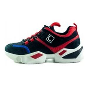 Кроссовки женские Lonza FLM90012 черно-красные