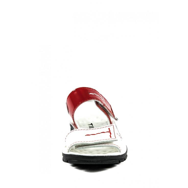 Сандалии для девочек TiBet 008-25-08 бело-красные