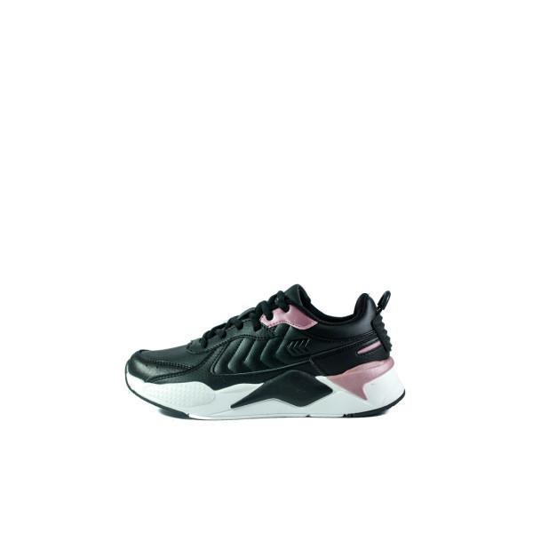 Кроссовки женские Restime PWO20399 черно-розовые