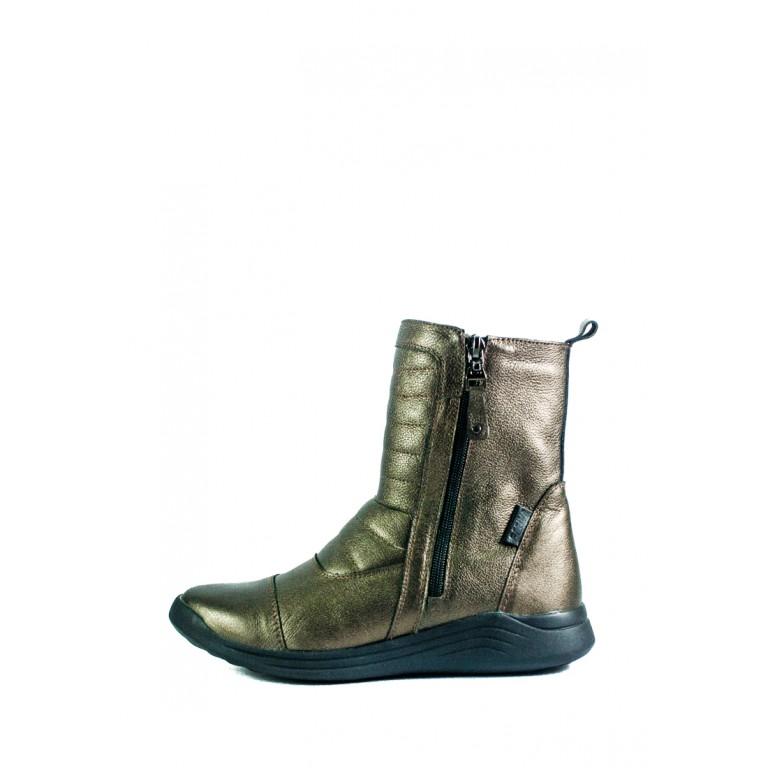 Сапоги зимние женские MIDA 24673-539Ш бронзовые