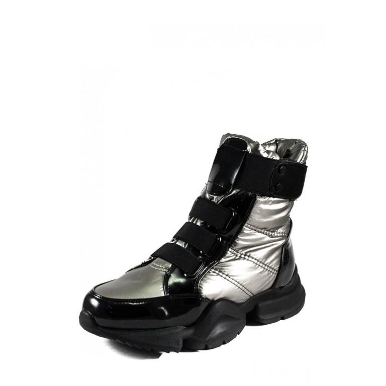 Ботинки зимние женские Lonza 1552-N681 металлик