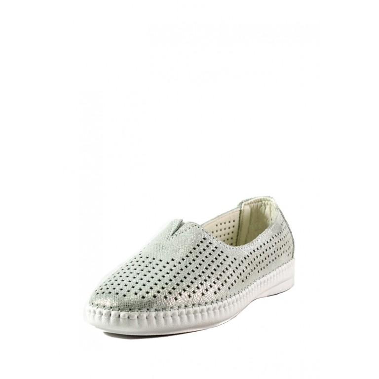 Мокасины женские Allshoes 2250-2 серебряные