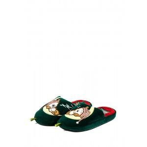 Тапочки комнатные детские Home Story 91853-AC красно-зеленые