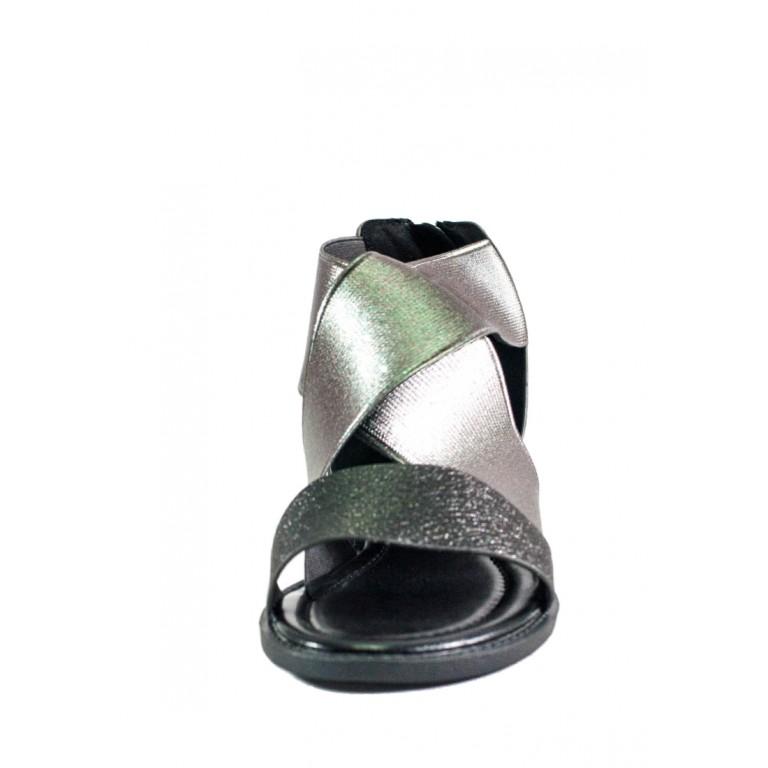 Сандалии женские LorisBottega СФ L-561 черно-серебрянные