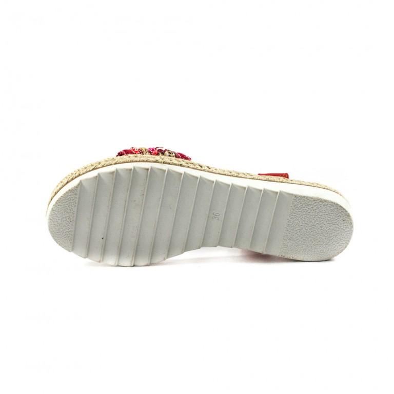 Босоніжки жіночі літні Sopra червоний 11517