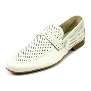 Туфли мужские MIDA 13131-12 белая кожа