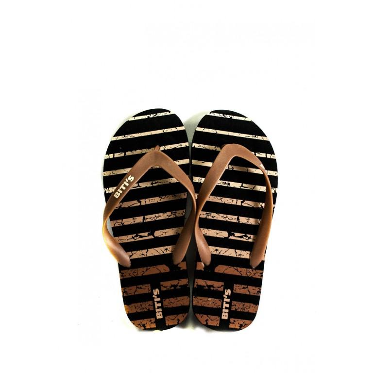 Вьетнамки мужские Bitis 9184-E черно-коричневые