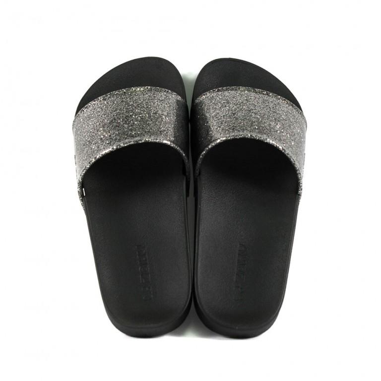 Шлепанцы женские Zaxy 82440-90288 серебряно-черные