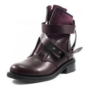 Ботинки демисезон женские Fabio Monelli T280-A517 бордовые