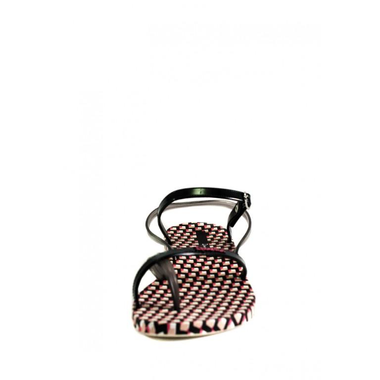 Босоножки женские летние Ipanema 82766-24898 черно-розовые