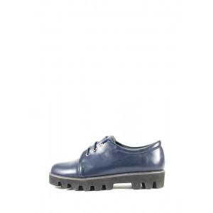 Дерби женские  Elmira V5-118T синие