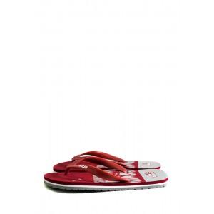 Шлепанцы подростковые Bitis 9961-А красно-серые