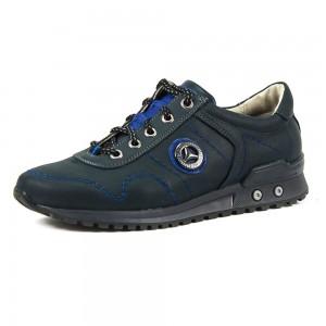 Кроссовки подростковые MIDA 31132-4 синяя кожа