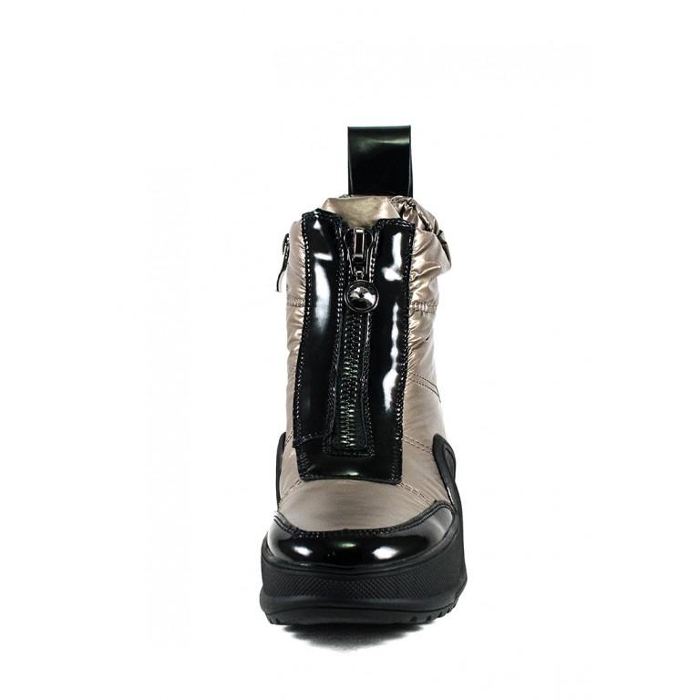 Ботинки зимние женские Prima D'arte 3350-F66-3 металлик