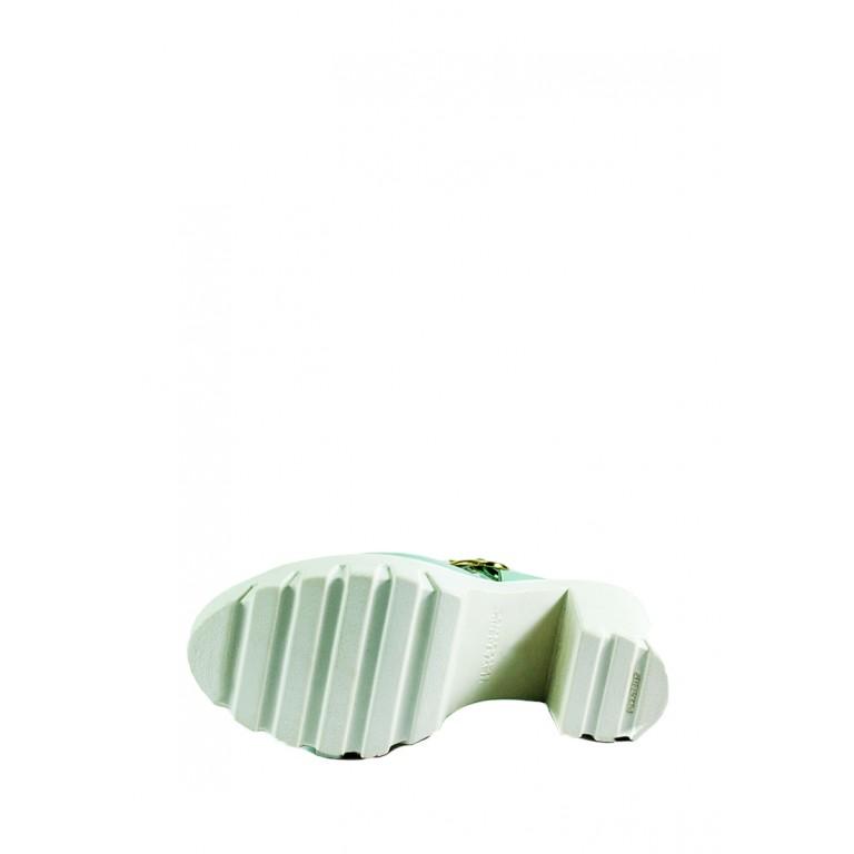 Босоножки женские летние MIDA 23595-361 зеленые