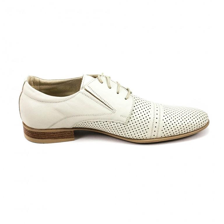 Туфли мужские MIDA 13148-14 белая кожа