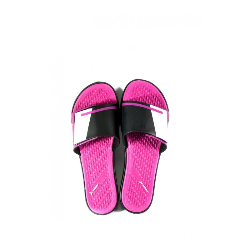 Шлепанцы женские Rider 82569-23748 черно-розовые