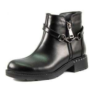 Ботинки демисезон женские SND SDAZ-J15 черная кожа