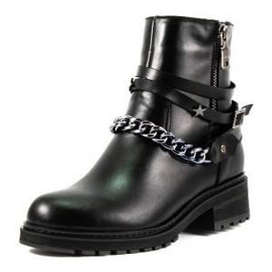 Ботинки демисезон женские SND SDAZ-J21 черная кожа
