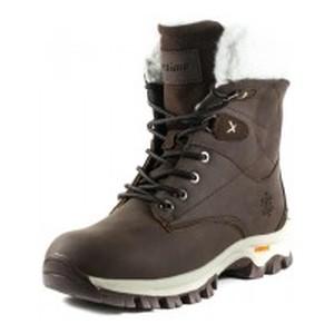 Ботинки зимние женские Restime KWZ19408 коричневые