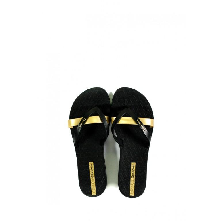 Вьетнамки женские Ipanema 81805-24006 черно-золотые