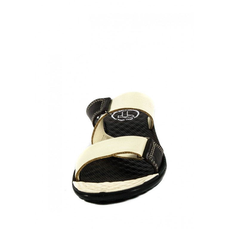 Шлепанцы женские TiBet 40-2  коричнево-кремовые