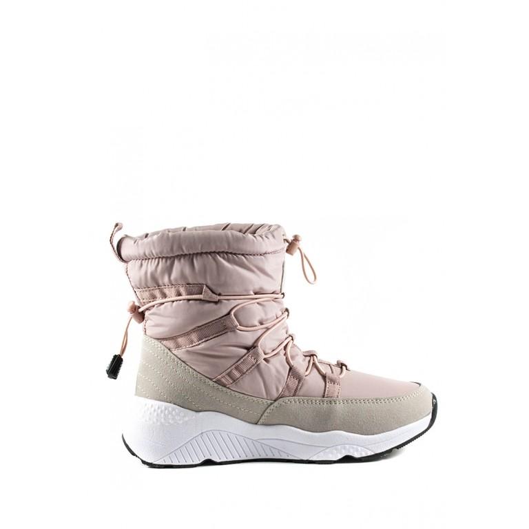 Дутыши женские Restime YWZ19428 розово-серые