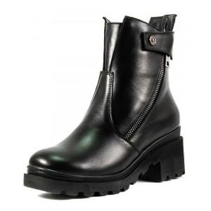 Ботинки демисезон женские SND SDAZ-3223 черная кожа
