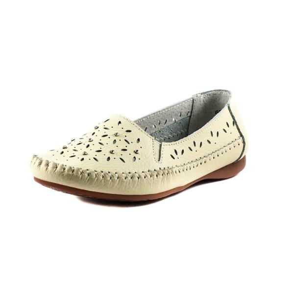 Мокасины женские Allshoes 63027 Бежевые
