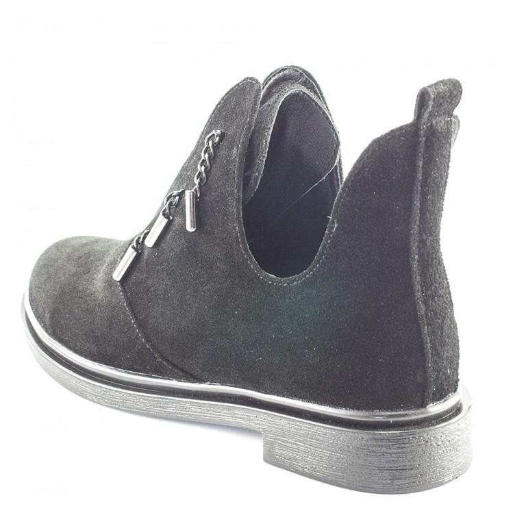 Ботинки демисез женск Julaneli Б-57 черная замша