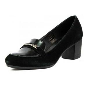 Туфли женские MIDA 21828-102 черная кожа-замша