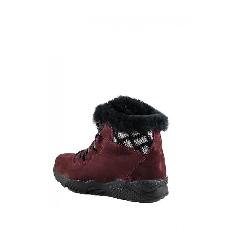 Ботинки зимние женские MIDA 24723-430Ш бордовые