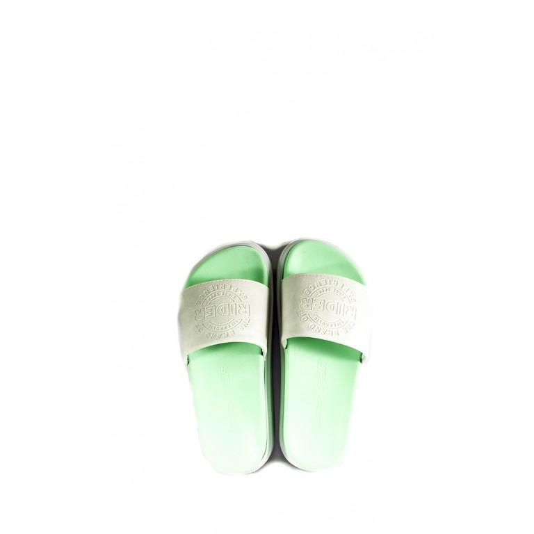 Шлепанцы женские Rider 82801-20804 бело-салатовые