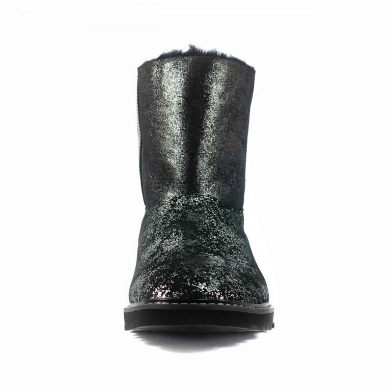 Угги женские MIDA 24607-525Н-1 черно-серебрянные