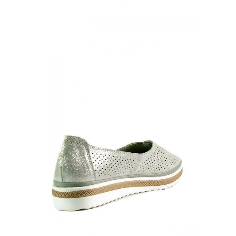 Мокасины женские Allshoes 17128-3K-1 светло-серые