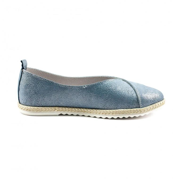 Туфли женские SND SDTM1977 голубая кожа